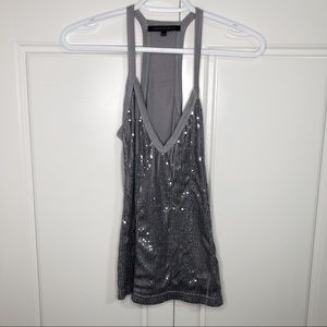 Urban Behavior XS Women Silver Metallic Tank Top